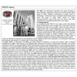 WSOP History (Italiano)